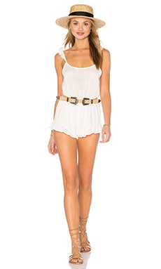 Clayton Linen Cici Romper in Ivory