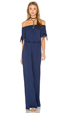 Daliah Off The Shoulder Jumpsuit in Navy