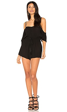 Mckenna Crepe Playsuit in Black