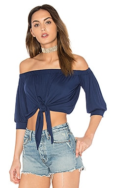 Mariah Top in Navy