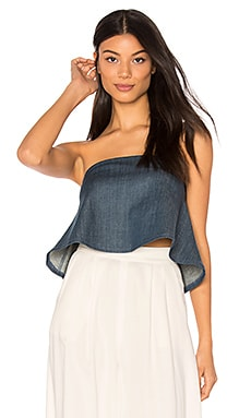 Marina Denim Joy Top in Marina Denim