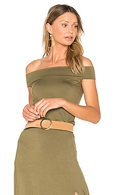 Anais Top in Olive