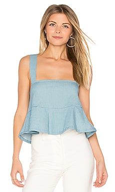 Denim Drew Top in Sunfade Denim