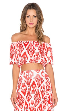 Clayton Molly Top in Vermilion Tribal