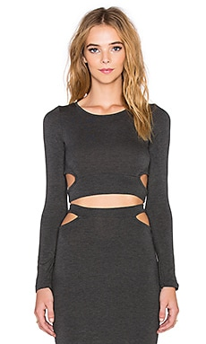 Miranda Long Sleeve Top in Charcoal