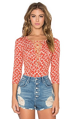 Clayton Raina Bodysuit in Red Flower