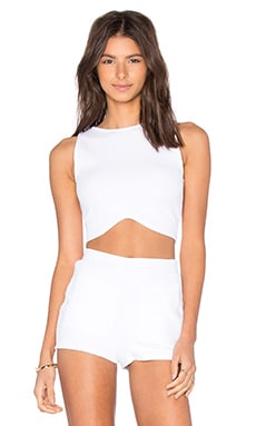 Riley Wide Rib Top in White