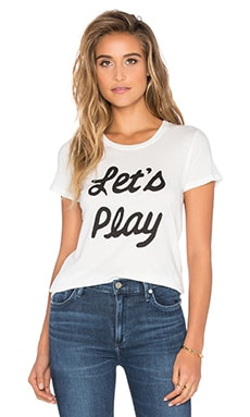 Clayton Let's Play Basic Tee in White