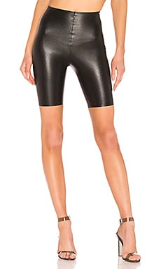 Faux Leather Bike Shorts Commando $78