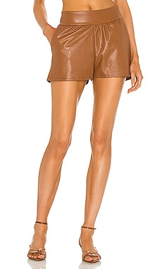 Faux Leather Relaxed Short Commando $98