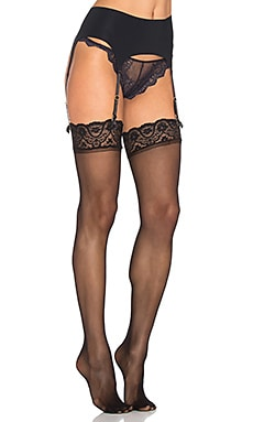 Commando The Stripped Garter Belt in Black
