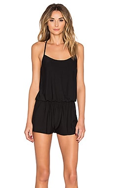 Commando Butter T-Back Romper in Midnight