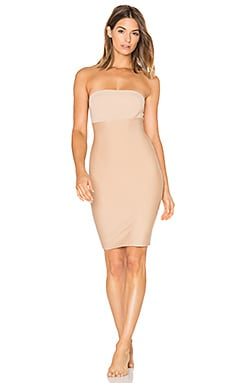 Two-Faced Tech Control Strapless Slip in Nude