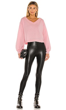 Coupon Commando Perfect Control Faux Leather Legging