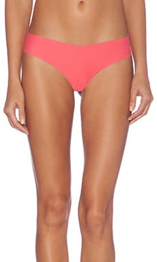 Commando Cotton Thong in Hot Coral