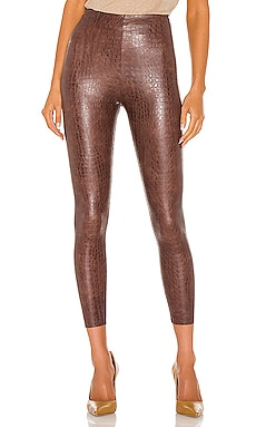Faux Leather Animal Legging Commando $118 NEW