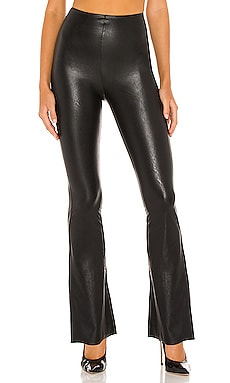 Faux Leather Flared Pant Commando $128 NEW