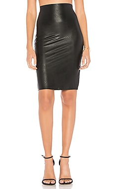 Perfect Pencil Faux Leather Skirt Commando $98