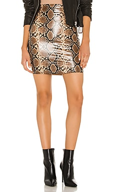 Faux Leather Animal Mini Skirt Commando $108