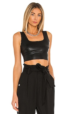 TOP CROPPED FAUX LEATHER Commando $78 BEST SELLER