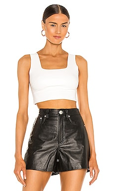 TOP CORTO FAUX LEATHER Commando $78
