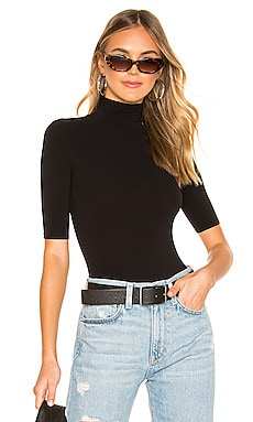 Ballet Shortsleeve Turtleneck Bodysuit Commando $78