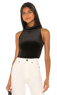Velvet Sleeveless Turtleneck Bodysuit Commando $98