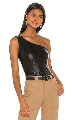 Faux Leather One Shoulder Bodysuit Commando $98 BEST SELLER
