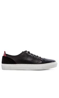 Common Cut Donato Sneaker with Fur in Black