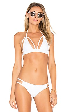 Outline Bikini Top in White