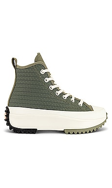 Run Star Hike Platform Crochet Twist Sneaker Converse $115 NEW