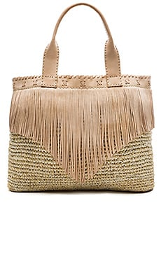 cocobelle Fringe Bag in Ivory