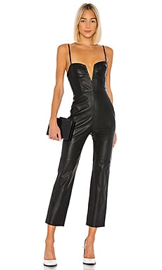 Zofia Leather Jumpsuit Camila Coelho $628 NEW ARRIVAL