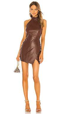 Mia Leather Mini Dress Camila Coelho $438 NEW ARRIVAL