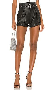 Azan Leather Shorts Camila Coelho $358