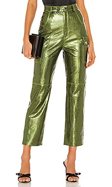 Sammy Leather Cargo Pant Camila Coelho $498 NEW ARRIVAL