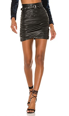 Cami Leather Skirt Camila Coelho $348