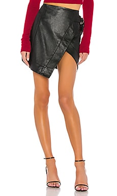 Madeline Leather Mini Skirt Camila Coelho $195