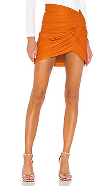 Clementine Leather Skirt Camila Coelho $358