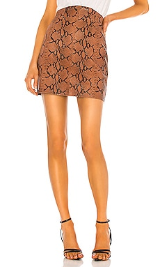 Luana Leather Mini Skirt Camila Coelho $498