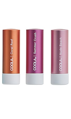 Mineral Liplux SPF 30 Organic Tinted Trio COOLA $40