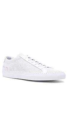 Original Perforated Leather Achilles Low Common Projects $365