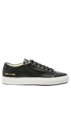 Original Leather Achilles with White Sole Common Projects $423