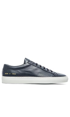 Common Projects Original Achilles w/ White Sole en Marine
