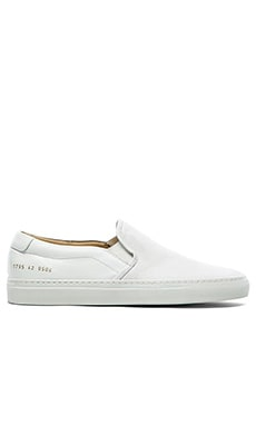 Common Projects Canvas and Leather Slip On in White