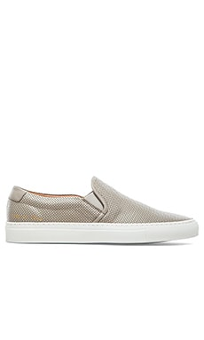 Common Projects Perforated Nappa Slip On in Grey