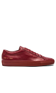 Common Projects Original Achilles Low en Rouge