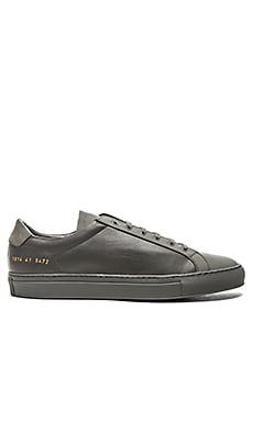 Common Projects Achilles Premium Low en Gris foncé