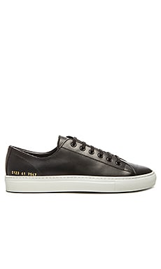 Common Projects Leather Tournament Low in Black