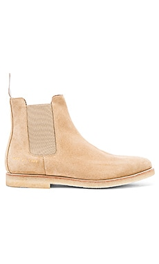 Common Projects Chelsea Boot Suede in Tan